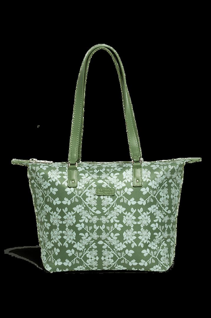 Fall For You Shoppingtaske S Kaki/Aquagreen/Flowers   1