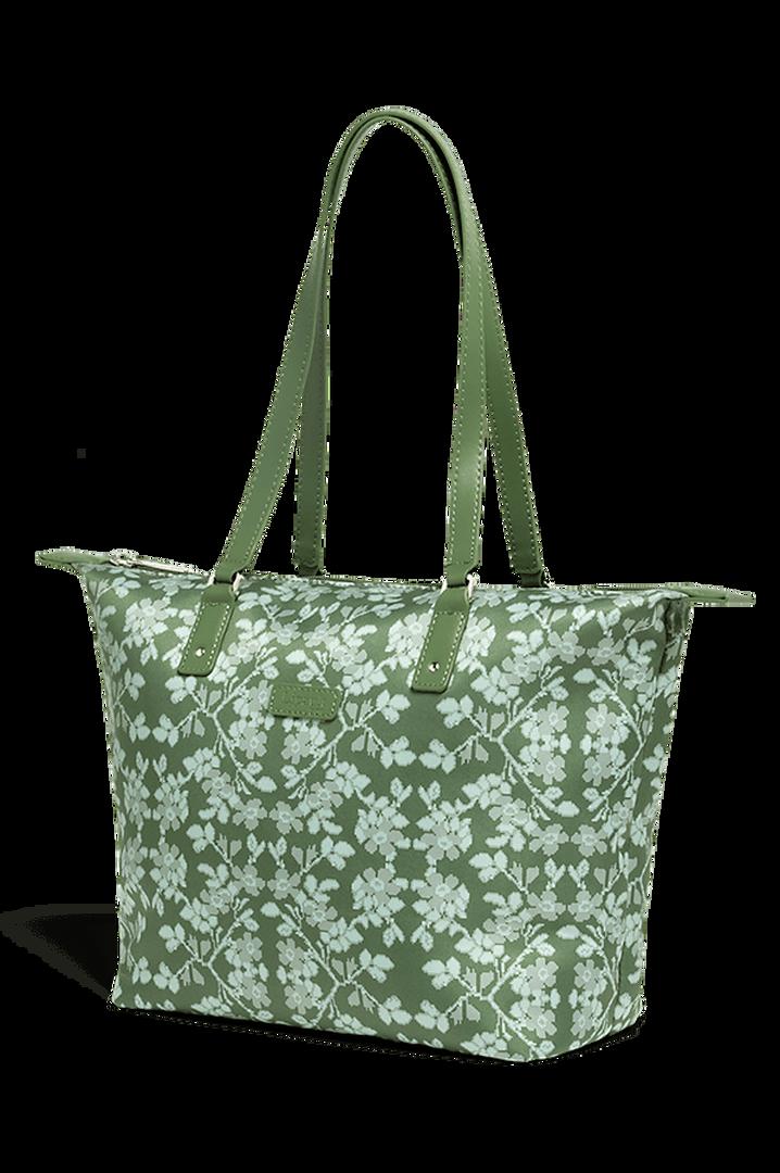 Fall For You Shoppingtaske S Kaki/Aquagreen/Flowers   3