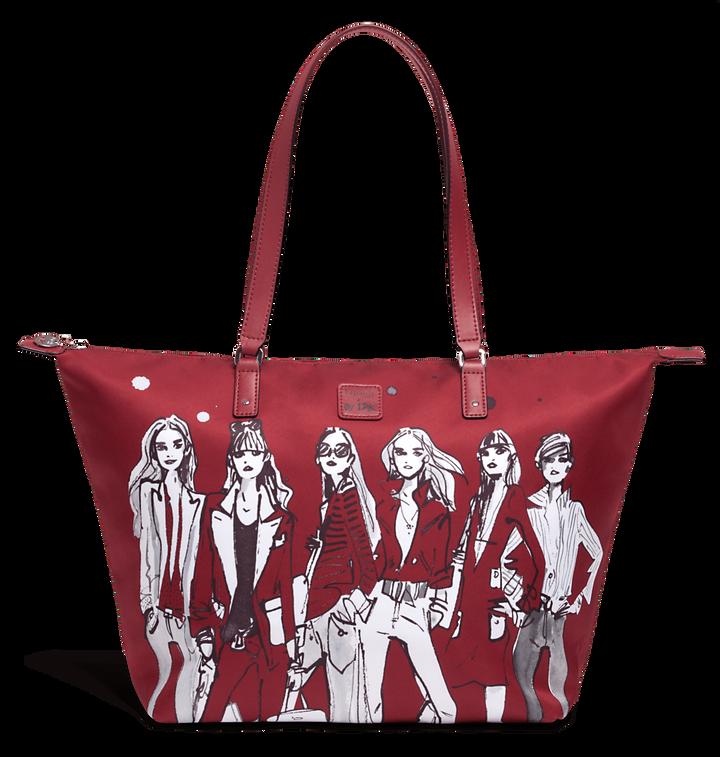 Izak Zenou Collab Shoppingtaske M Pose/Garnet Red | 1